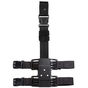 Uncle Mike's Molded Drop Leg Tactical Platform Ambidextrous Kydex Double Leg Strap Black