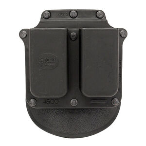 Fobus Double Mag Roto-Paddle Pouch .45 Single Stack Ambidextrous Polymer Black 4500NDRP