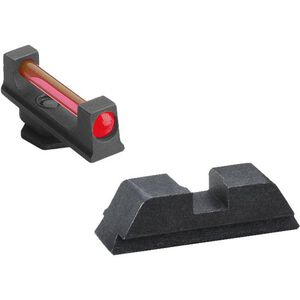 AmeriGlo Fiber Combination Sight Set For GLOCK 20/21/29/30/31/32/36/40/41 Red FO Front Black Rear Steel GFT-119