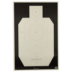 """Action Target Official IDPA Paper Practice Target 23"""" x 35"""" Ivory/Black 100 Pack"""