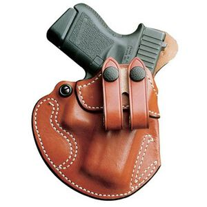 DeSantis Gunhide Cozy Partner IWB Holster For GLOCK 17, 19, 22, 23, 31, 32, 36 Ruger SR9, SR40 Right Hand Leather Tan 028TAB2Z0