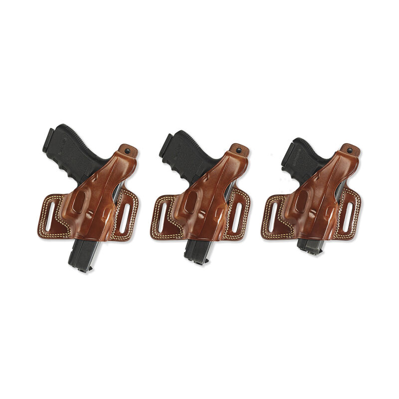 """Galco Silhouette High-Ride Belt Holster Colt 1911 3.5"""" to 5"""" Barrels Right Hand Leather Tan SIL212"""
