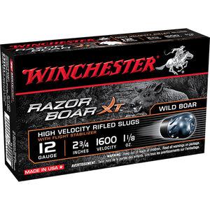 "Winchester Razor Back 12 Gauge Shotshell 5 Rounds 2 3/4"" Slug 492 Grains"