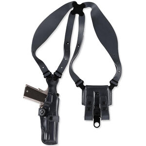 Galco VHS Shoulder Holster System Fits GLOCK 17/22 Ambidextrous Leather Black