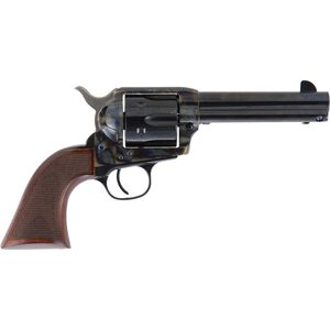 "Cimarron Evil Roy Revolver .357 Magnum 4.75"" Barrel 6 Rounds Steel Blue and Case Hardened Finish Wood Grips"
