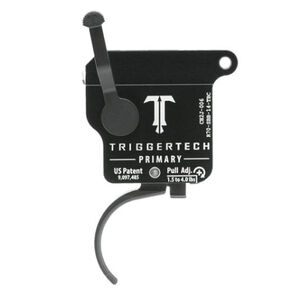 Trigger Tech Remington 700 Primary Drop In Replacement Trigger Right Hand/Bolt Release/Curved Lever PVD Black Finish