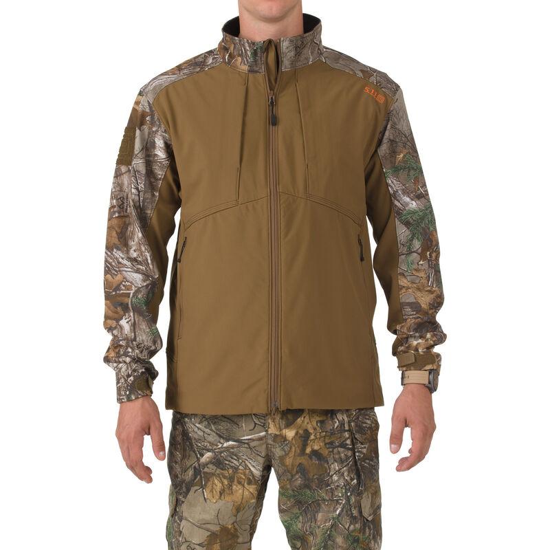 5.11 Tactical Sierra Softshell Colorblock Jacket Polyester Medium Battle Brown/Realtree XTRA 78010116M