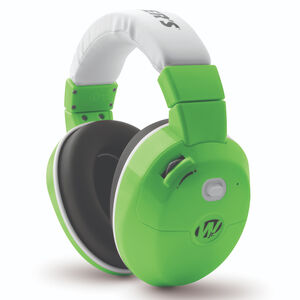 Walker's Game Ear Electronic Active Youth Earmuffs 22dB Noise Reduction Rating Two AAA Battery Powered Green