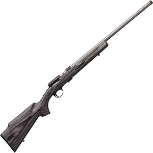 "Browning T-Bolt Target/Varmint .22 LR Bolt Action Rimfire Rifle 22"" Threaded Barrel 10 Rounds Grey Laminate Stock Blued/Stainless Finish"