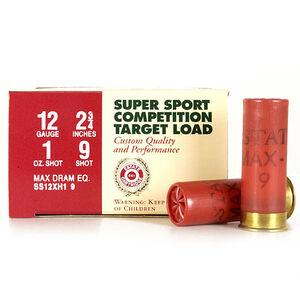 "Ammo 12 Gauge Estate Super Sport 2-3/4"" #9 Lead 1 Oz 1330 fps 250 Round Case SS12XH1 9"