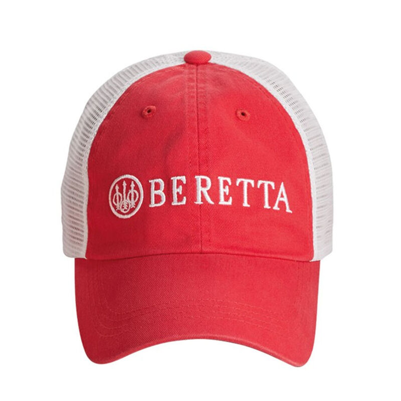 Beretta LP Trucker Hat Beretta Logo OSFM Mars Red