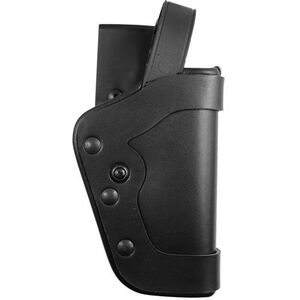 "Uncle Mike's PRO-3 Beretta 9/40, S&W 10mm, .45 5"" Barrel Duty Holster Right Hand Size 20 Mirage Plain Black 35203"