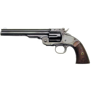 "Cimarron Model 3 Schofield Revolver .44-40 Winchester 7"" Barrel 6 Rounds Wood Grips Blue Finish"