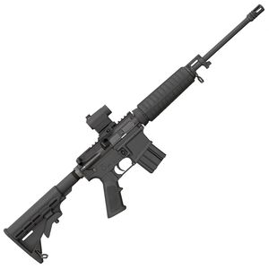 "Bushmaster QRC AR-15 Semi Auto Rifle 5.56 NATO 16"" Light Barrel 10 Rounds Collapsible Stock Red Dot Optic Black"