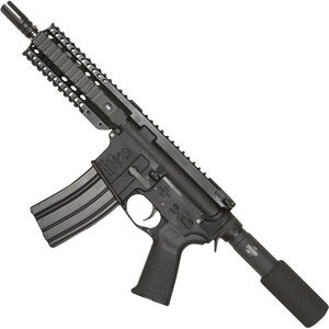 "Bushmaster XM-15 Enhanced Patrolman's AR Semi Auto Pistol 5.56 NATO 7"" Barrel 30 Rounds Quad Rail Black"