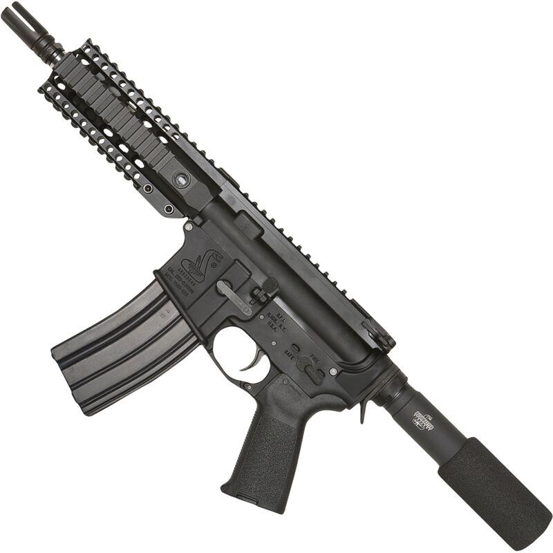 Bushmaster XM 15 Enhanced Patrolman S AR Semi Auto Pistol NATO 7 Barrel 30 Rounds Quad Rail Black