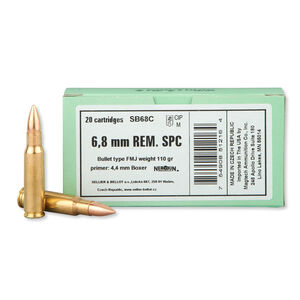 Sellier & Bellot 6.8 SPC Ammunition 20 Rounds FMJ 110 Grains SB68C