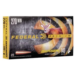 Federal Premium Berger Hybrid Hunter .270 Winchester Ammunition 20 Rounds 140 Grain Berger Hybrid 2950fps