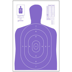 """Action Target B-27E High Visibility Target (Fluorescent Purple) 23"""" x 35"""" 100 Pack"""