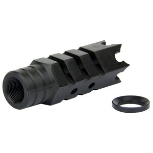 "TacFire .223/5.56 1/2""X28 Shark Style Muzzle Brake Steel Black MZ1004"