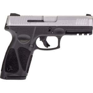 """Taurus G3 9mm Luger Semi Auto Pistol 4"""" Barrel 17 Rounds Single Action with Restrike 3-Dot Sights Thumb Safety Black Polymer Frame Stainless Finish"""