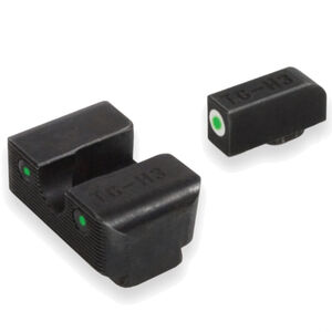 TruGlo Brite Site Tritium Pro GLOCK MOS 40/41 Front/Rear Night Sight Set Green Tritium 3-Dot Configuration Front White Focus Lock Ring Steel Black
