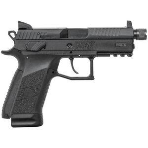 """CZ-USA P-07 Suppressor-Ready 9mm Luger Semi Auto Pistol 4.3"""" Threaded Barrel 17 Rounds Black"""