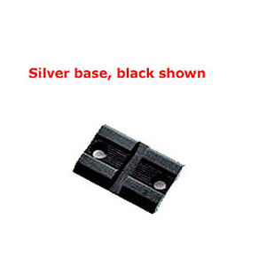 Weaver No. 402S Base Savage, Winchester, and Others Standard Detachable Top-Mount Extension Base Front Silver