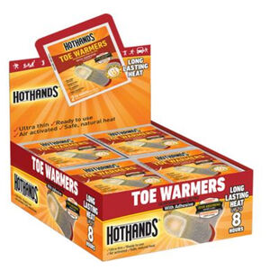 HotHands Toe Warmer Adhesive Back Up to 8 Hours 40 Pairs
