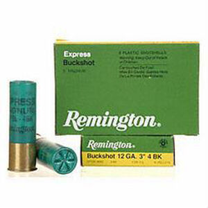 Remington 12 Gauge Ammunition Five Rounds 41 Pellets #4 Buck 3""