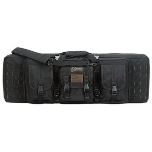 """Voodoo Tactical 36"""" Padded Weapons Case Black/Coyote Stitching"""