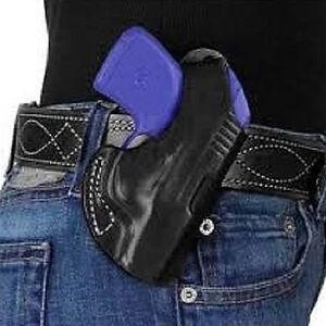 """DeSantis The Maverick Ruger LCP II Belt Holster 1.75"""" Belt Right Hand Leather Black"""