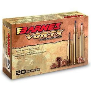 Barnes VOR-TX 300 Weatherby Mag Ammunition 20 Rounds 180 Grain Lead Free TTSX Boat Tail Bullet 3100 fps