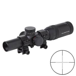 Firefield 1st Focal Plane 1-6x24 Riflescope Dual Illuminated Mil Dash Reticle 30mm 1/2 MOA Matte Black