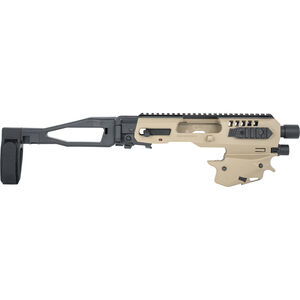 CAA Micro Roni MCK Gen 2 Standard Conversion Kit Fits S&W M&P Shield Chassis Pistol Brace Polymer Tan
