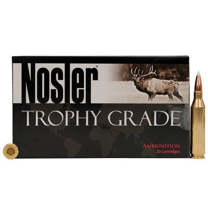 Nosler Trophy Grade .338 Winchester Magnum Ammunition 20 Rounds 225 Grain E-Tip Lead Free Bullet 2750fps