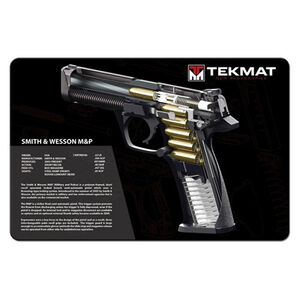 """TekMat Armorer's Bench Mat Smith & Wesson M&P Cutaway 11""""x17"""" 17-SW-MP-CA"""