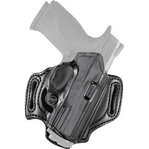 Aker Leather 168A FlatSider Slide XR13 S&W M&P Shield Compact Belt Holster Right Hand Leather Plain Black