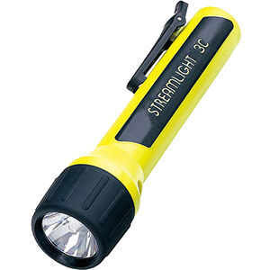 Streamlight 3C Pro-Polymer, Flashlight, Yellow Body, Blue LEDs, 85 Lumens