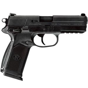 "FN FNX-45 USG Semi Auto Handgun .45 ACP 4.5"" Barrel 15 Rounds Fixed Sights Accessory Rail Polymer Frame Ambidextrous Controls Black Finish 66960"