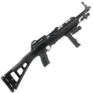 "Hi-Point Firearms Carbine Semi Auto Rifle 9mm Luger 16.5"" Barrel 10 Rounds Polymer Stock Black Finish with Forward Grip Light and Laser 995TSFGFL-LAZ"