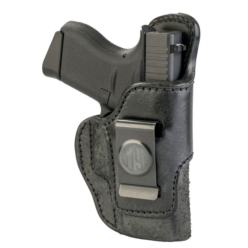 1791 Gunleather Rigid RCH-3 Multi-Fit IWB Concealment Holster for Pocket/Sub-Compact Semi Auto Pistols Right Hand Draw Leather Black