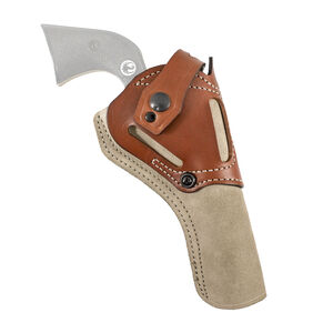 DeSantis Wild Hog Ruger Wrangler Full Size Belt Holster AMBI Leather Tan
