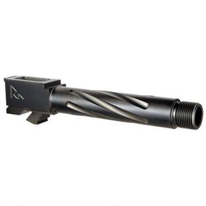 Rival Arms Barrel for S&W M&P9 Shield Threaded Fluted Match-Grade Drop-In, Black PVD Coated 416R Stainless