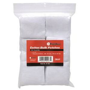 """KleenBore SuperShooter Patch .22 to .270 1.25"""" Square Cotton 500 Pack"""