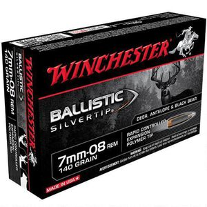 Winchester Silvertip 7mm-08 Remington Ammunition 20 Rounds BST 140 Grains SBST708