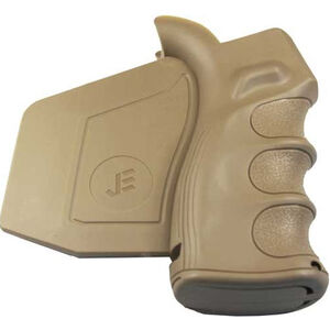JE Machine Tech AR15/M4 Featureless Paddle Fin Grip Polymer Tan