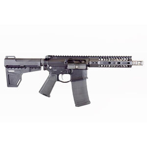 "2A Armament Balios-Lite Gen 2 AR-15 Semi Auto Pistol .300 AAC Blackout 8"" Barrel M-LOK Hand Guard Arm Brace Black"
