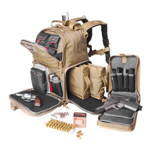 G Outdoors GPS Tactical Range MOLLE Backpack Bag Nylon Tan
