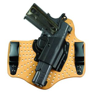 Galco KingTuk Air Springfield XD-S/Walther CCP Tuck-able IWB Holster Right Hand Draw Leather/Kydex Natural
